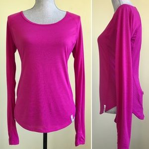 Under Armour Pink Heat Gear Semi-Fitted Top Size S